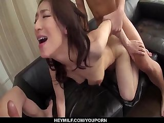 Busty Marina Matsumoto loves the number of cocks in her - More at Japanesemamas com