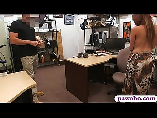 Huge boobies woman sucks off and screwed by pawn man