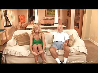 Blonde housewife first time swinging