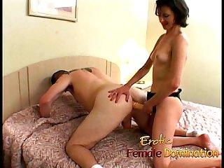 Kinky brunette playgirl enjoys fucking hard a horny well-hung stallion