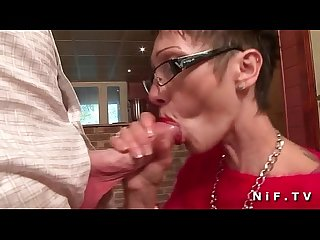 Big boobed french mature with tattoo s gets banged