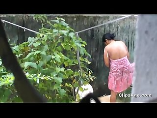 Desi friend S sister bath Spy from kitchen