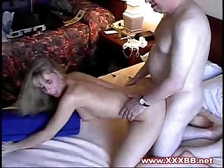 Blonde milf fucked in bedroom