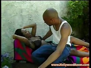 Black girl fucking outside