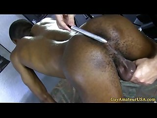 Amateur dude receives gay rimjob