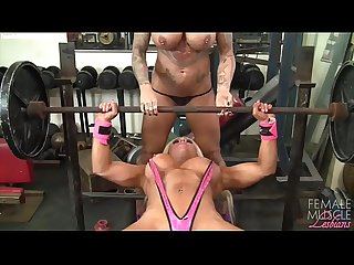 Female Bodybuilder Lesbians Tattoos and Tits