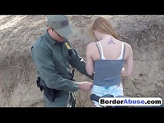 Gorgeous blonde babe fucked by police officer