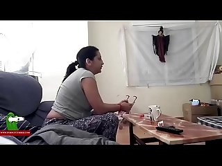Bored couple watching TV decide to have fun and fuck ADR0444