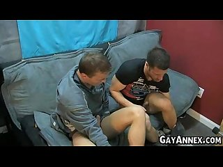 Married man get a blow job from his hansome gay friend