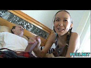 Delicious young slut showing big love