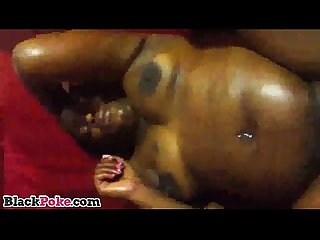 Chubby black gf squirts and gets pussy nailed