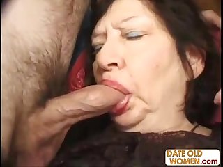 Mature slut randomly fucks two dudes