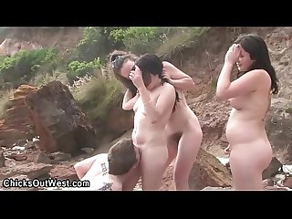 Aussie sluts fingering outdoors