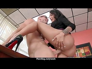 Big tits cutie fucks her coworker in their office 5