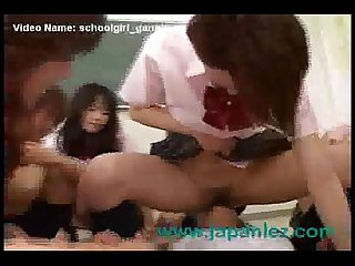 School girls gangbang and force new student into class