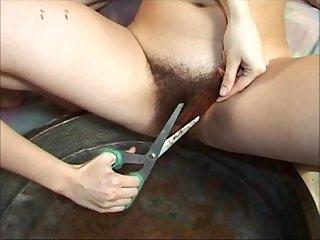 Lesbians Shaving and fucking