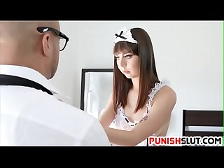 Trained sex slave get hard lesson from rough master