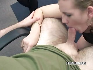 Horny wife Chastity blowing a geek
