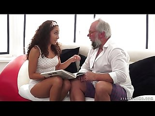 Teenie latina on much older dick