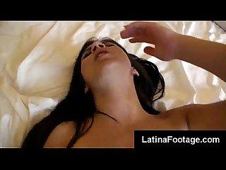 Colombian ninfo begs her lover for more