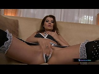 Jasmine rouge takes titus steel in every hole and swallows his cum