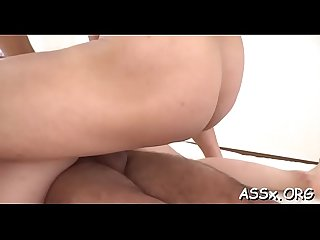 Bounded asian receives salacious anal and vagina toying