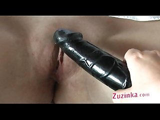 Two girls and black dildo