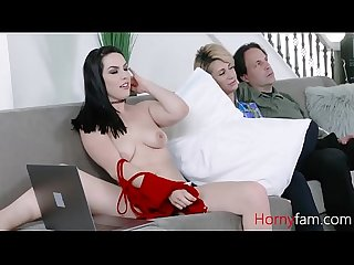 Mom snoozes and dads dick arouse s