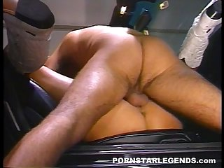 Young blonde fucked in a car