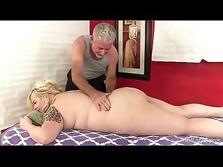 Blonde fatty Sex massage