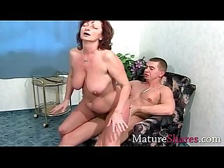 Natural granny fucked by young hunk