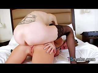 TS Mandy Mitchell Fucks A Girl In The Ass