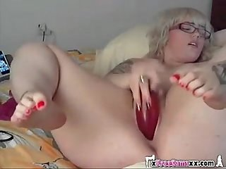 Blonde bbw on cam