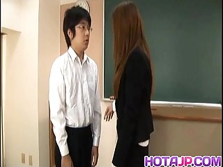 Sakura hirota has hairy slit fucked at school