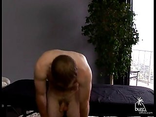 Massage and handjob hairy male