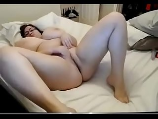 Chubby girl with extreme boobs masturbate watch live at www period foxycams period online