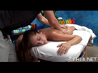 Pretty 18 year old gets fucked hard by her massage therapist