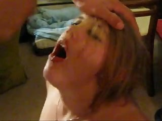 Blonde juggalette sucks husbands friends cock while he films