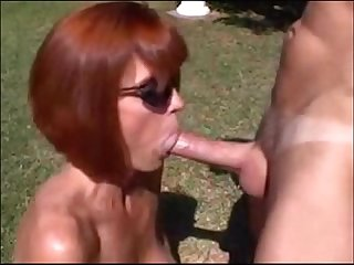 Cum compilation on ginger Milf with huge tits