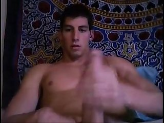 Huge dick college guy beats his at hornycamguys period com