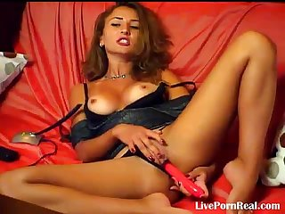 Sexy hot girl playing hard with a dildo 2 flv