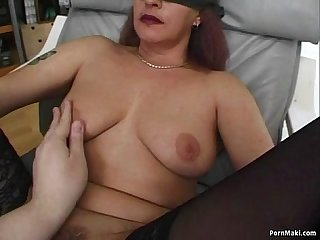 Granny gets dp d with dildos before fucking