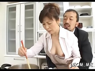 Ramrod hungry japanese mature sucks a big one eyed monster passionately