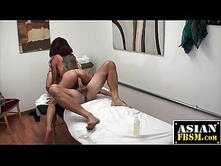 Horny Masseuse Rubs and Rides Dick