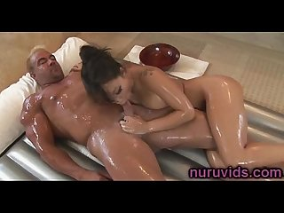 Cute asian asa akira gives amazing nuru massage