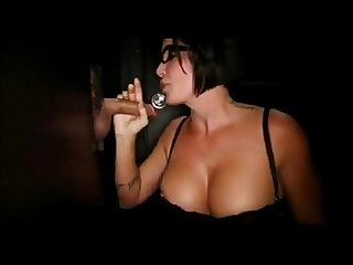 Busty milf gets showered with cum at the gloryhole http bit ly 2bfkxq9