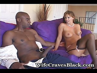 Lingerie mommy craves dark meat
