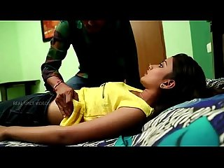 Cute hot teen girl having romance by young boy