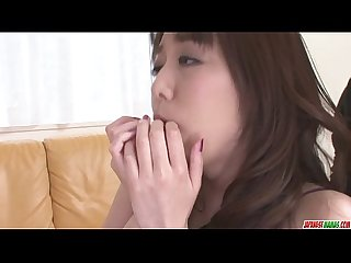 Two guys get great blowjobs from akari asagiri