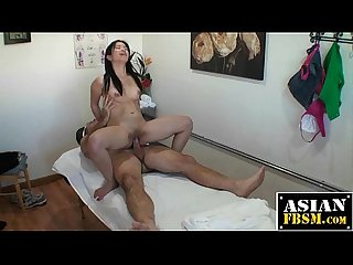 Secret asian massage parlor fucking
